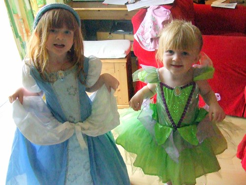 Cinderella and Tinkerbell!