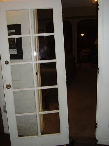Door off the hinges!