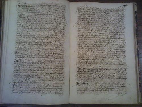 Robert Fludd - handwritten