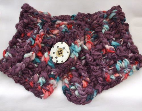 Hand-crocheted cowl in Colinette Point 5