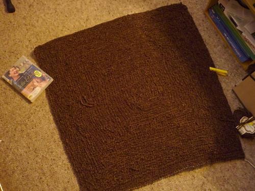 Log cabin blanket, stage 2