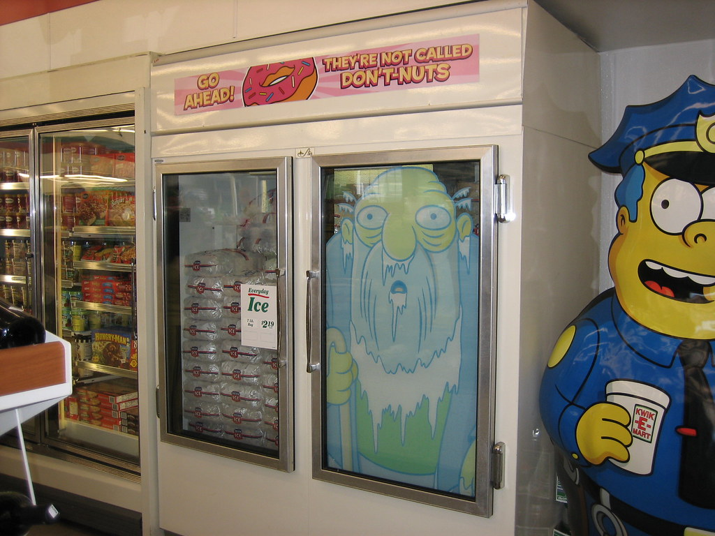 grandpa on the freezer