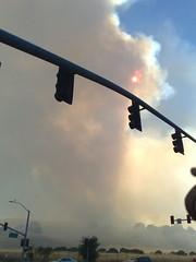 Sun blocked by smoke