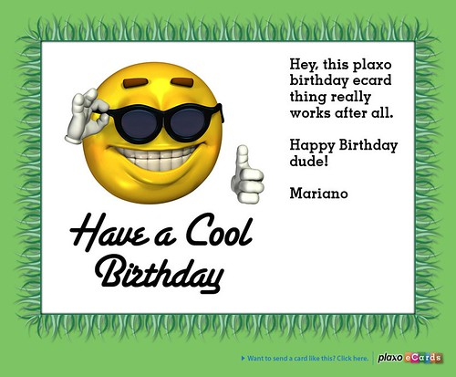 Plaxo Birthday eCard from Mariano