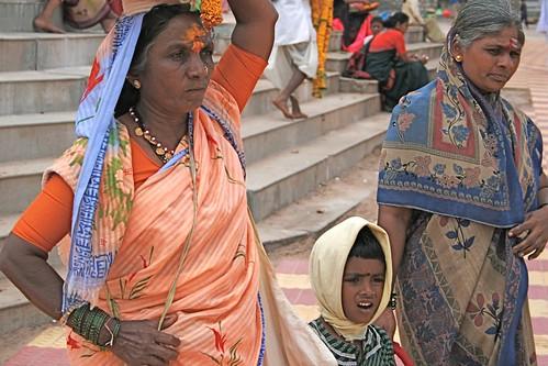 Devadasi woman and child