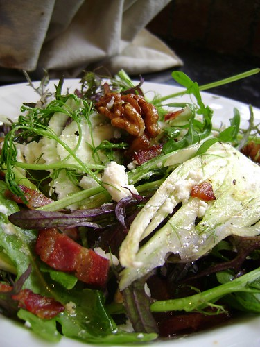 Fennel ,Pancetta,  Walnut and Goats Cheese Salad