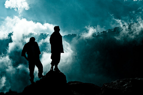 volcano silhouettes