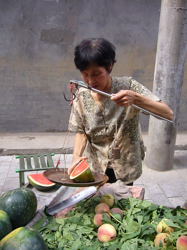 Watermelon on the scales in Xian