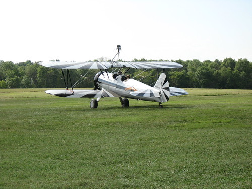flying circus - biplane takeoff