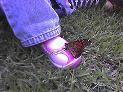Lydia and monarch butterfly