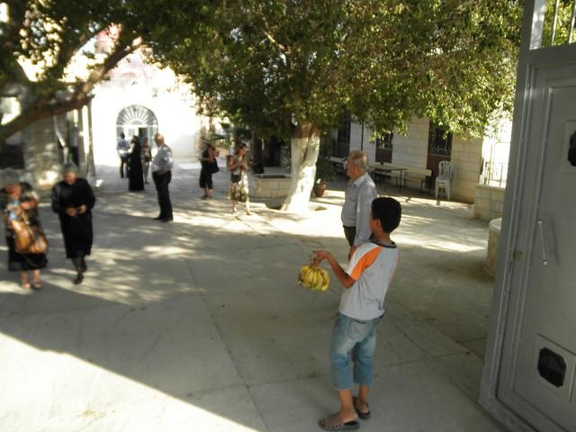 Boy selling bananas in Jericho, West Bank