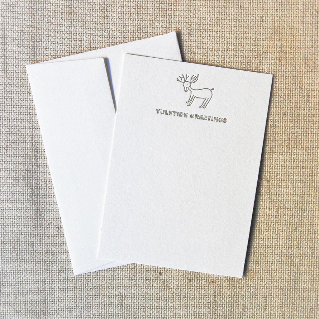 Chirstmas Note Cards | Yuletide Greetings