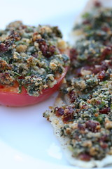 Tomato and Sole wtih Spinach-Sundried Tomato Crust