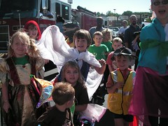 kids in costume for the parade