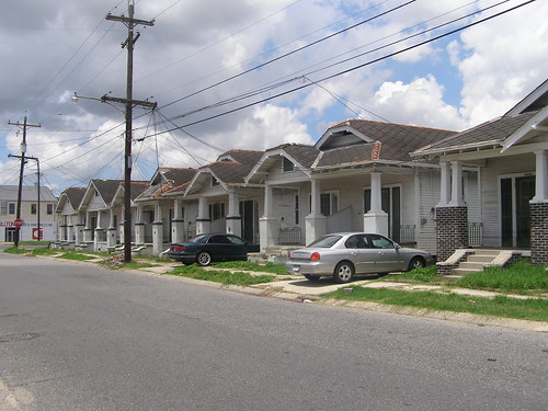 A row of Houses slated for Demolition