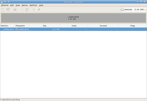 Setting up XubuntUSB - no partitions on my USB drive