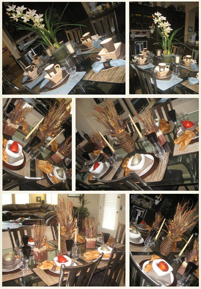 "Fall ""Chocolate Biscotti"" table decor"