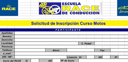 Inscripcion curso motos