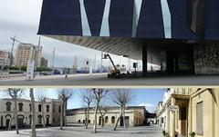 Edifici Fòrum i Can Ricard - dues cares de la moneda de Barcelona