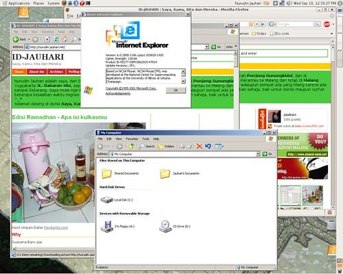 Ubuntu & Windows XP Merger Screenshot