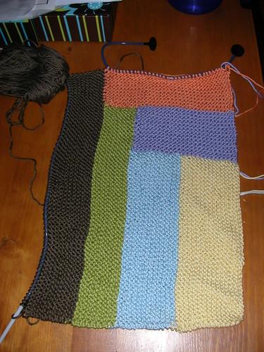 beginnings of baby blanket