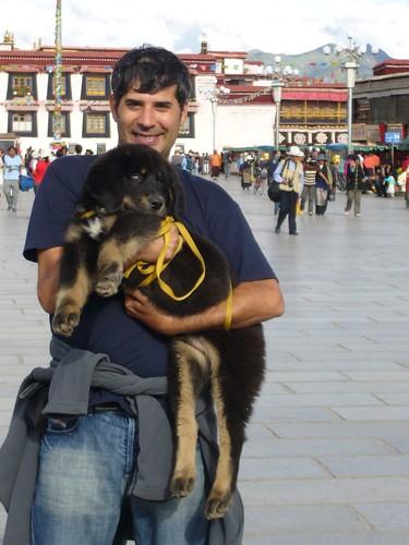 Greg holding Bruno