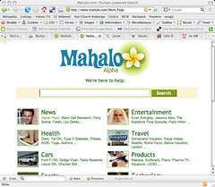 Screenshot of Mahalo.com