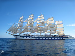 Royal Clipper with full sails