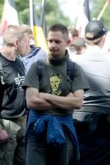 7. Juli 2007 Frankfurt a.M (13) - Nazi mit Remer-T-Shirt