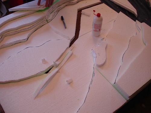 Creare un game board per le miniature inizio modeling time for Incollare il polistirolo