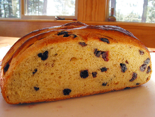 mixed berry sweet polenta bread