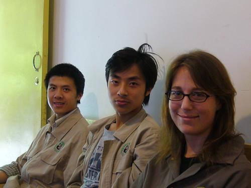 Francie, shifu Wong and shuo yi