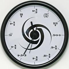 The Triple Nine Society Wall Clock by Leo Reynolds