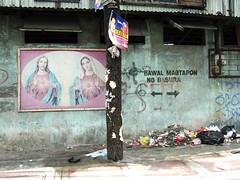 bawal magtapon ng basura besides mary and jesus
