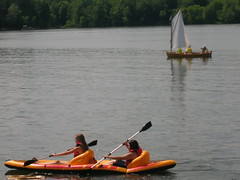 Sailboat and Kayak