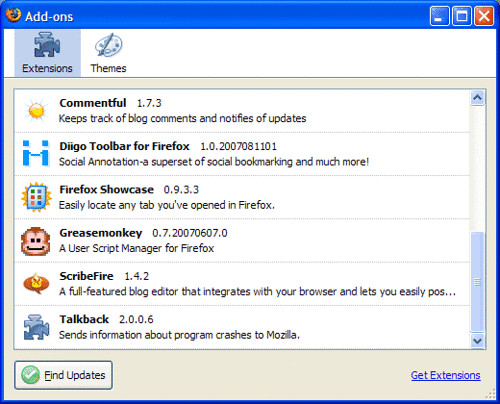 Firefox Extensions 2