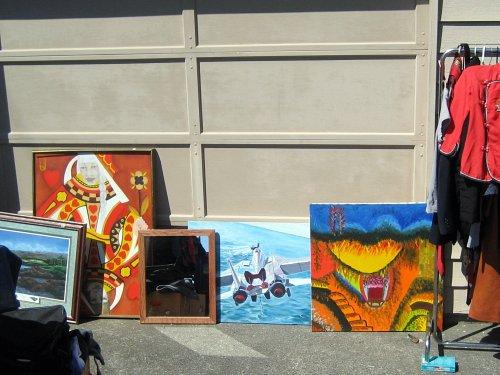Garage sale art show