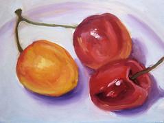 Cherries Oil Painting-Step 3