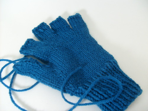 Urban Necessity Gloves in progress