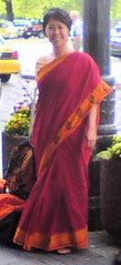 Me in Sari at King Station Seattle