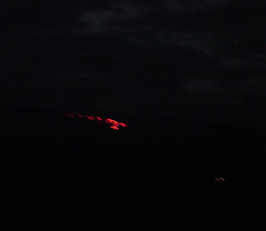 Lava from 5 miles away on Mt. Kilauea - Big Island