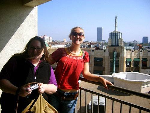 Andrea and Mel overlooking LA