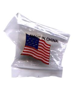 Bandera americana, pin para solapa, photo by Daquella manera