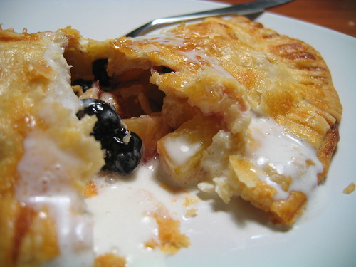 nectarine turnover w/dried blueberries