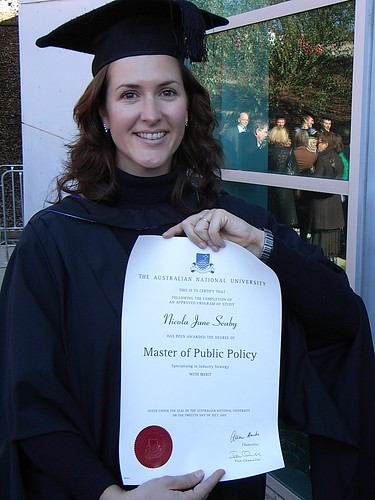 My sister Nicky with her Masters degree