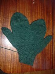 Plain Green Mittens