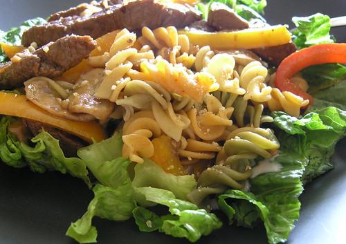 Hot Beef Pasta Salad