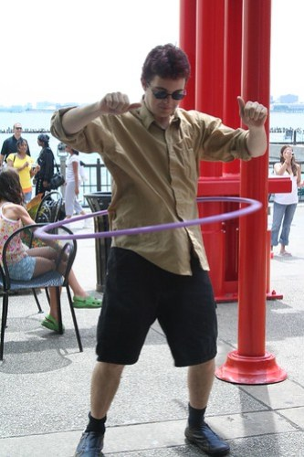 Adam Kicking Butt at Hula Hooping!  :)