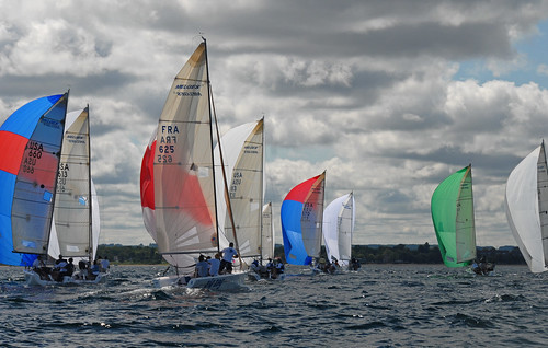 Melges Regatta on Traverse Bay by Jim Sorbie