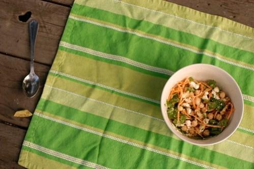 chickpea-walnut salad i